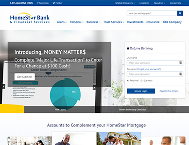 Homestar Bank screenshot
