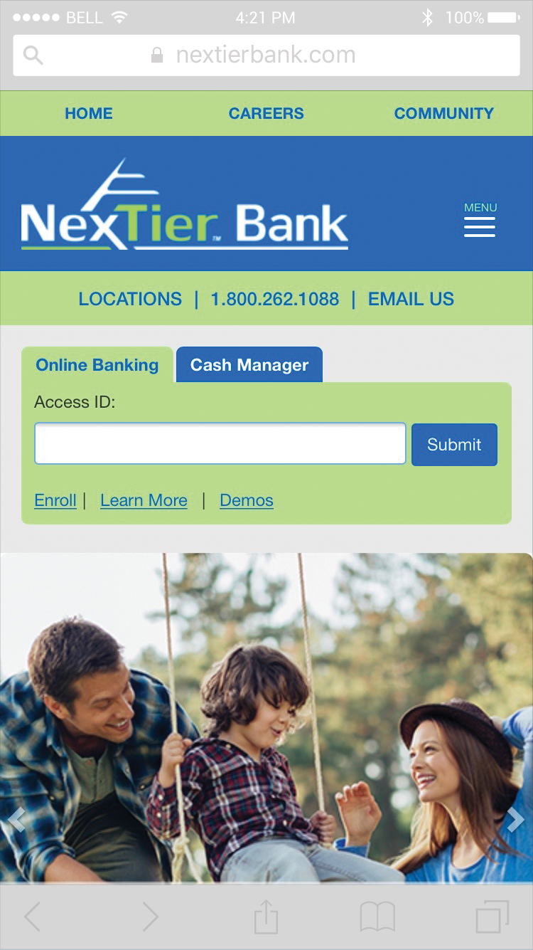 NexTier Bank Phone Screenshot