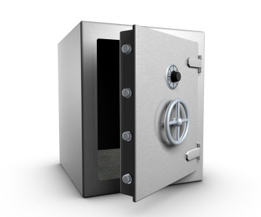 Screenshot of bank safe